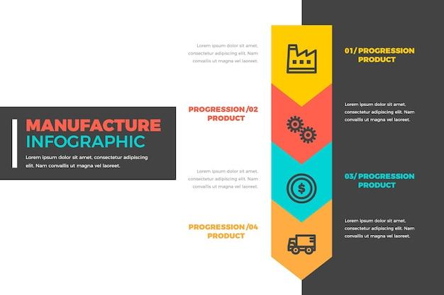 Concepto de infografía de fabricación vector gratuito