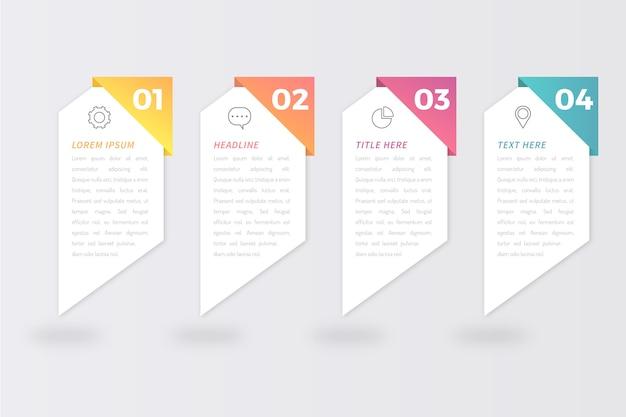 Concepto de infografía de pasos vector gratuito