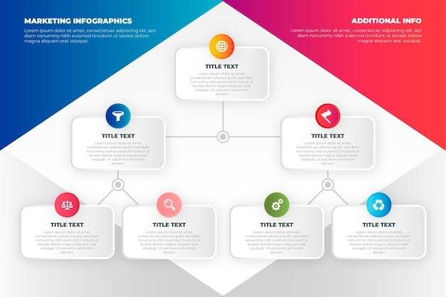 Concepto de infografías de marketing Vector Premium