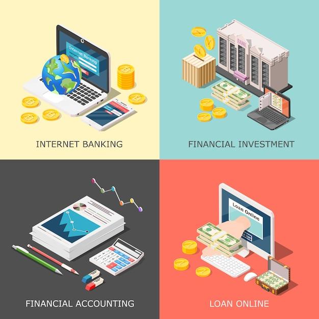 Concepto de inversión financiera vector gratuito