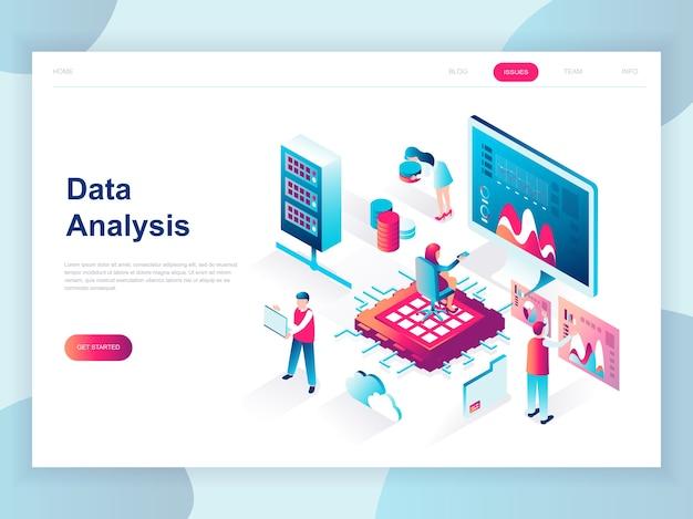 Concepto isométrico de diseño plano moderno de big data analysis Vector Premium