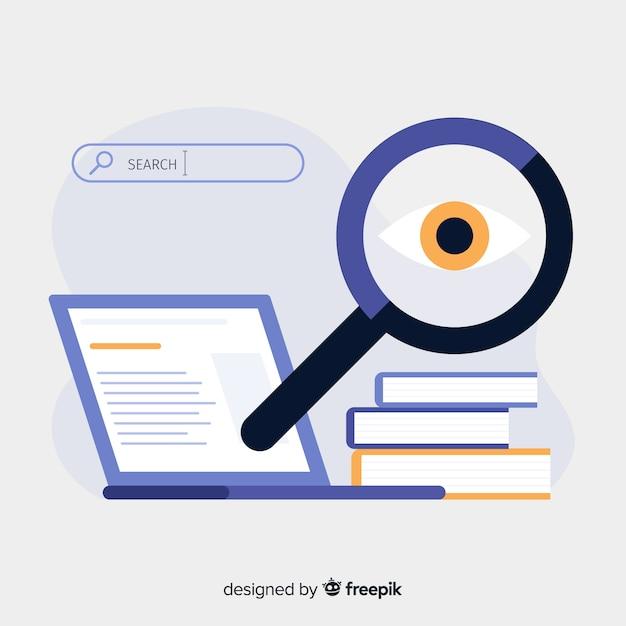 Concepto de landing page de búsqueda Vector Premium