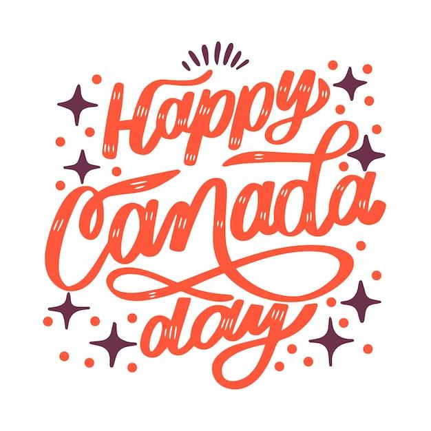 Concepto de letras del día de canadá vector gratuito