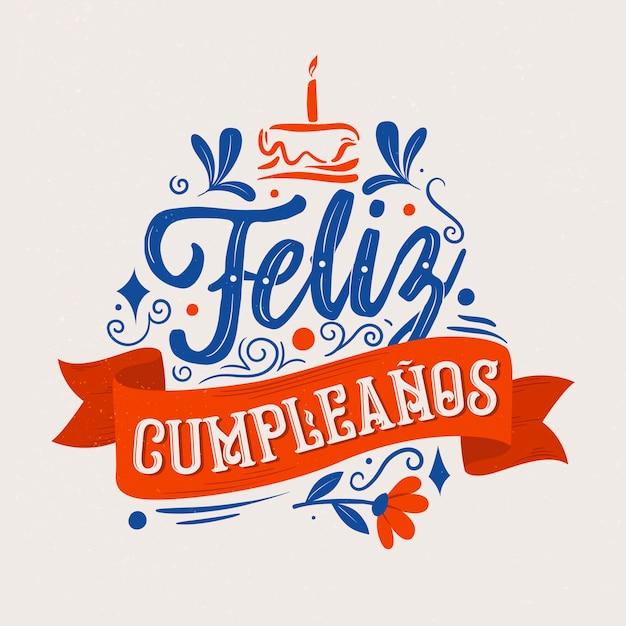 Concepto de letras feliz cumpleaños Vector Premium