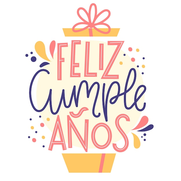Concepto de letras feliz cumpleaños vector gratuito