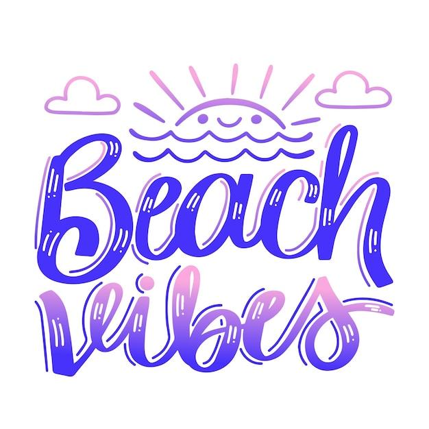 Concepto de letras de verano vector gratuito