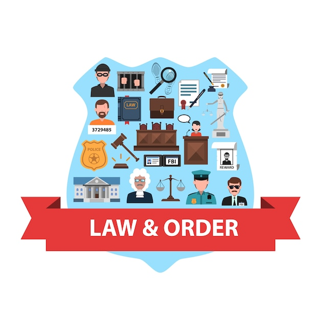 Concepto de ley plano vector gratuito