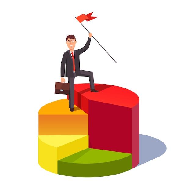 Concepto de líder de cuota de mercado vector gratuito