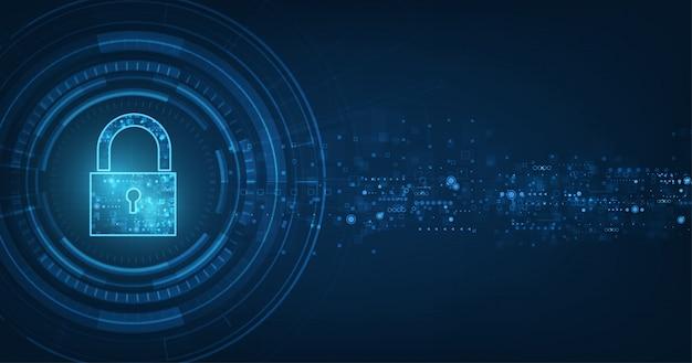 Concepto en línea de seguridad de internet. Vector Premium