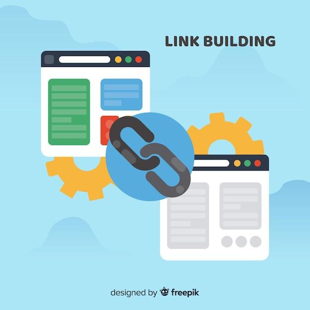 Concepto de link building vector gratuito