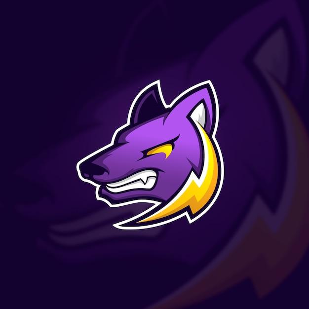 Concepto de logo de mascota Vector Premium