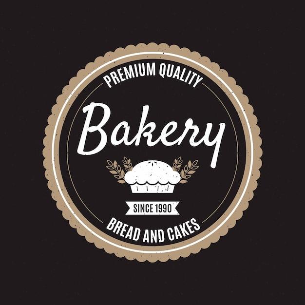 Concepto de logo de panadería retro vector gratuito