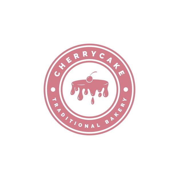 Concepto de logo de pastel de panadería Vector Premium