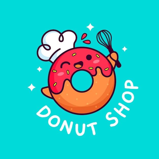 Concepto de logo de pastel de panadería vector gratuito