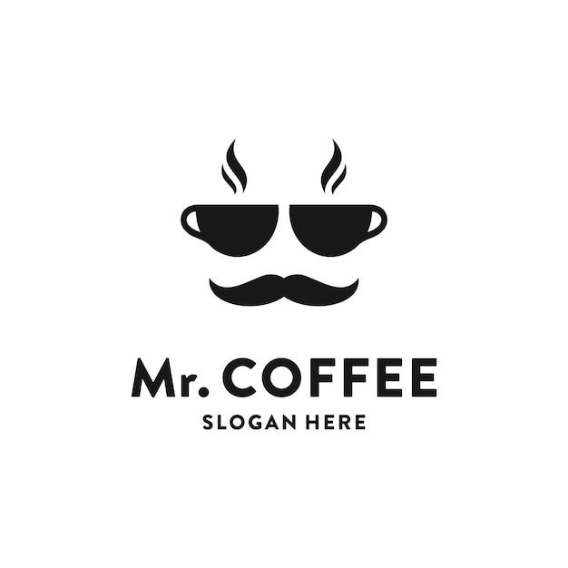 Concepto de logotipo de cafetería creativa Vector Premium