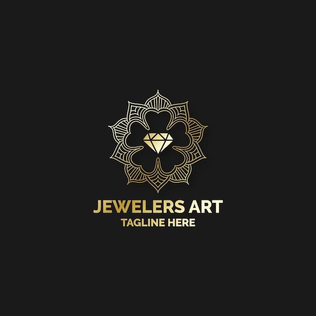 Concepto de logotipo de diamante elegante vector gratuito