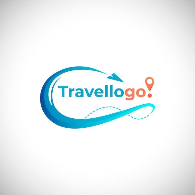 Concepto de logotipo de viaje detallado Vector Premium