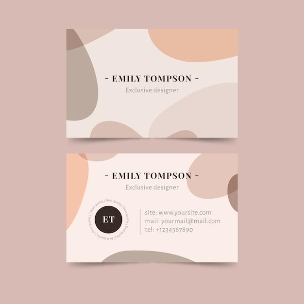 Concepto de manchas de color pastel para tarjetas de visita vector gratuito