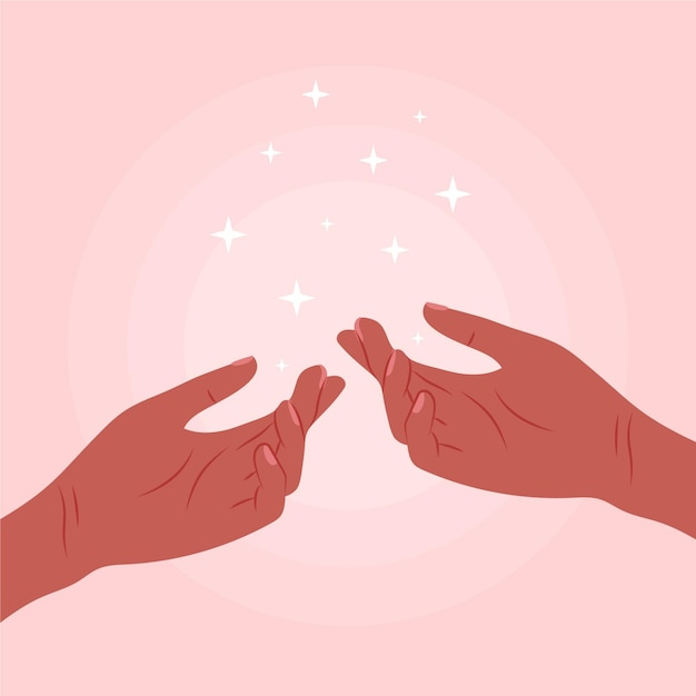 Concepto de manos curativas de energía vector gratuito