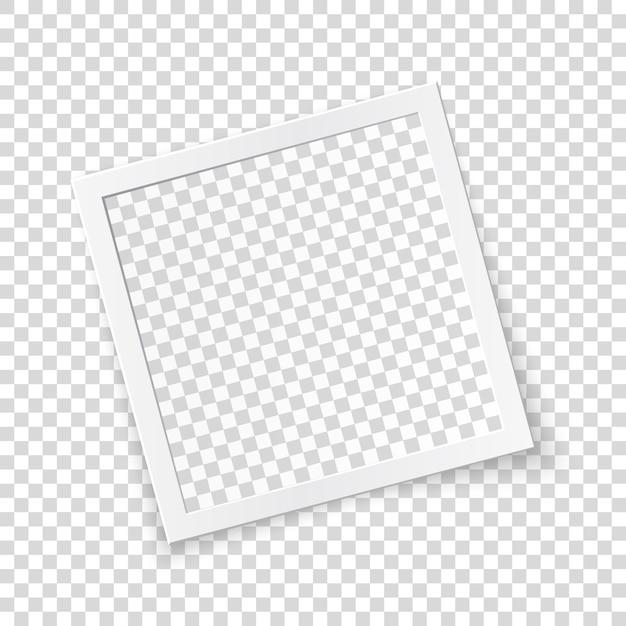 Concepto de marco de imagen girado, único objeto aislado sobre fondo transparente Vector Premium