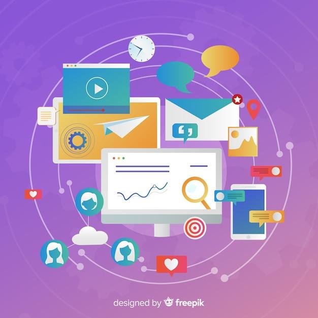 Concepto de marketing de contenidos Vector Premium
