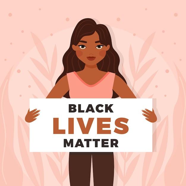 Concepto de materia de vidas negras vector gratuito