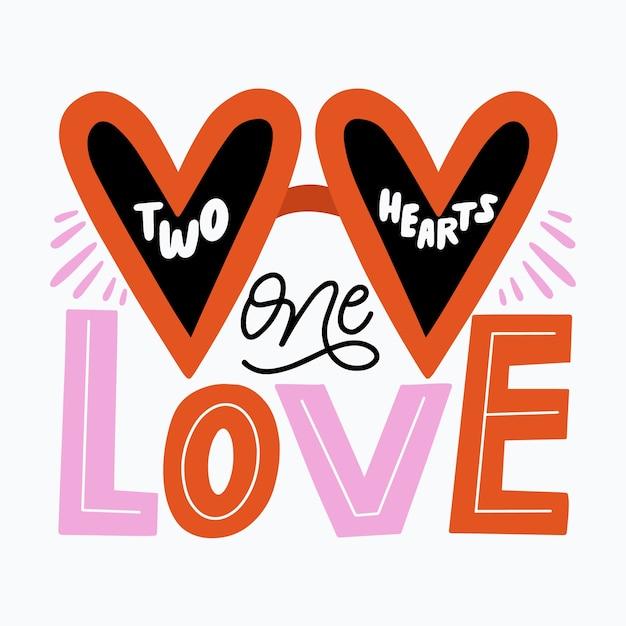 Concepto de mensaje de letras de amor vector gratuito