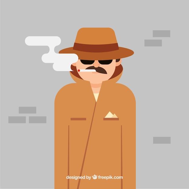 Concepto moderno de anonimato con diseño plano vector gratuito