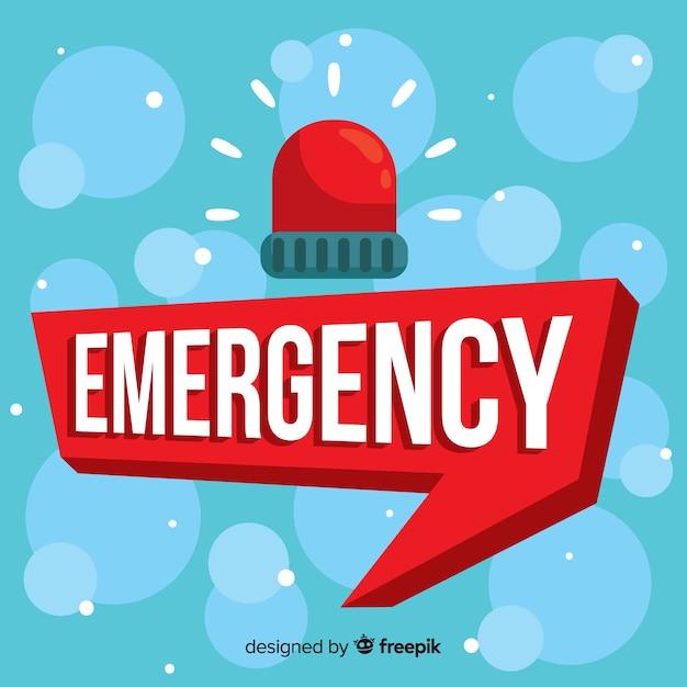 Concepto moderno de emergencia con diseño plano vector gratuito