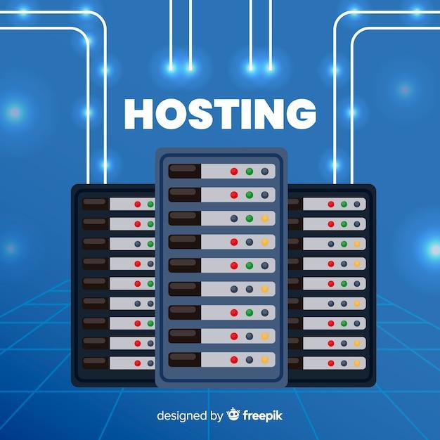 Concepto moderno de hosting vector gratuito