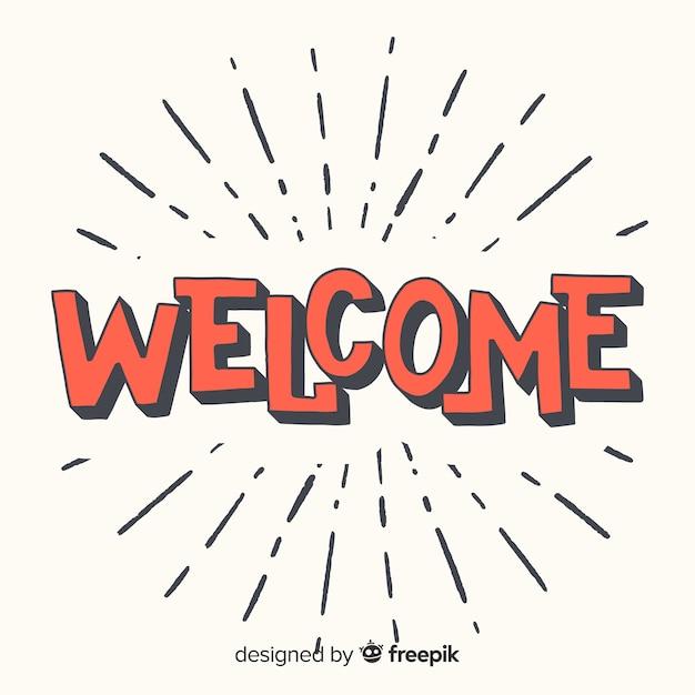 Concepto moderno de lettering de welcome vector gratuito