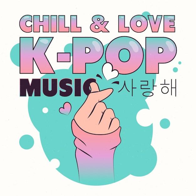 Concepto de música k-pop vector gratuito