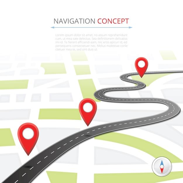 Concepto de navegación con puntero Vector Premium