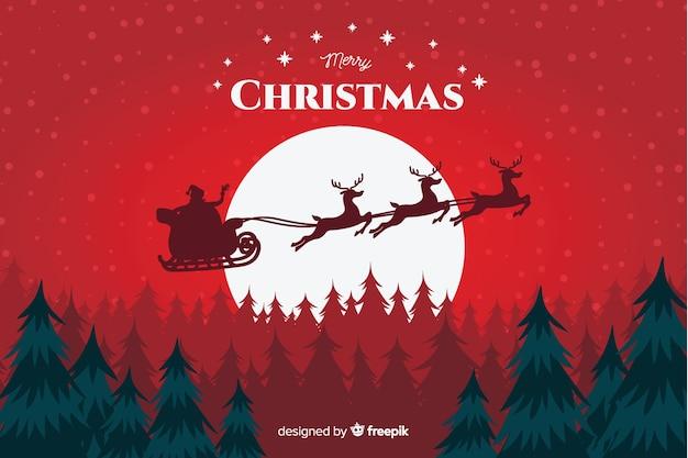 Concepto de navidad con fondo dibujado a mano vector gratuito