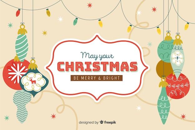 Concepto de navidad con fondo vintage vector gratuito