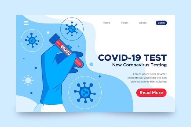 Concepto de página de aterrizaje de prueba covid-19 vector gratuito