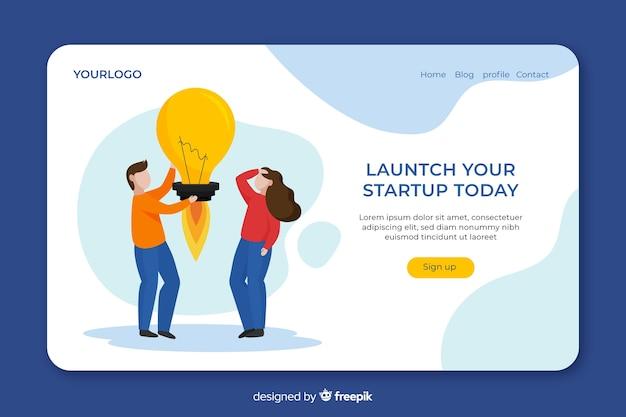 Concepto de página de inicio para inicio vector gratuito