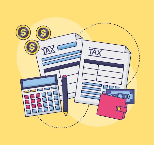 Concepto de pago de impuestos vector gratuito