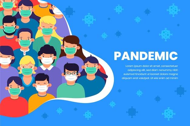 Concepto de pandemia de coronavirus vector gratuito