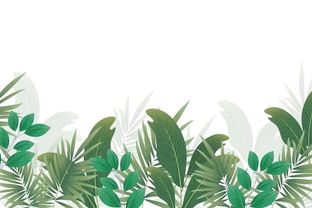 Concepto de papel tapiz mural tropical Vector Premium