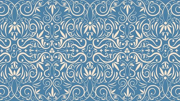 Concepto de papel tapiz vintage ornamental vector gratuito