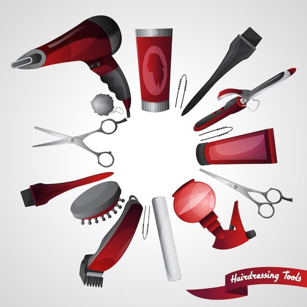 Concepto de peluqueria vector gratuito
