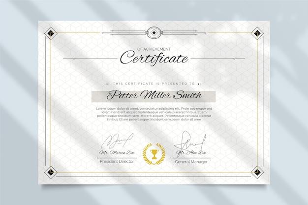 Concepto de plantilla de certificado elegante vector gratuito