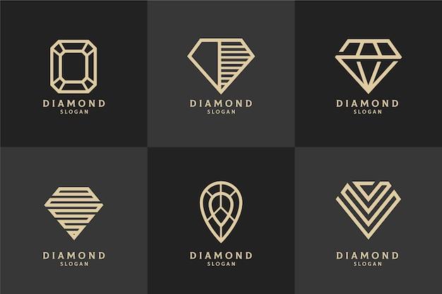 Concepto de plantilla de logotipo de diamante vector gratuito