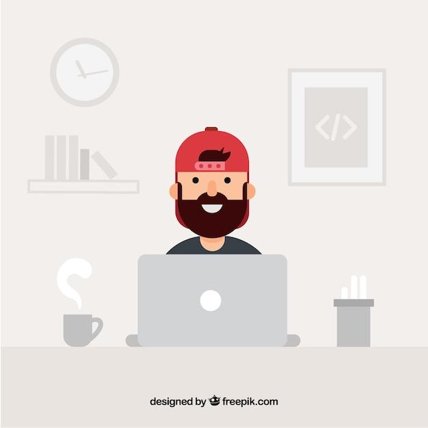 Concepto de programadores con diseño plano vector gratuito