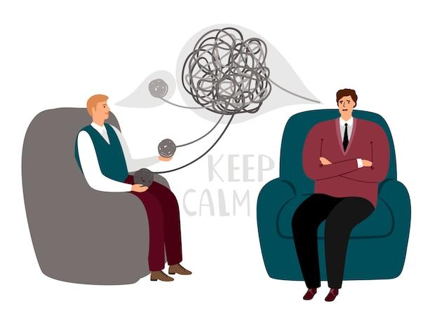 Concepto de psicoterapia Vector Premium