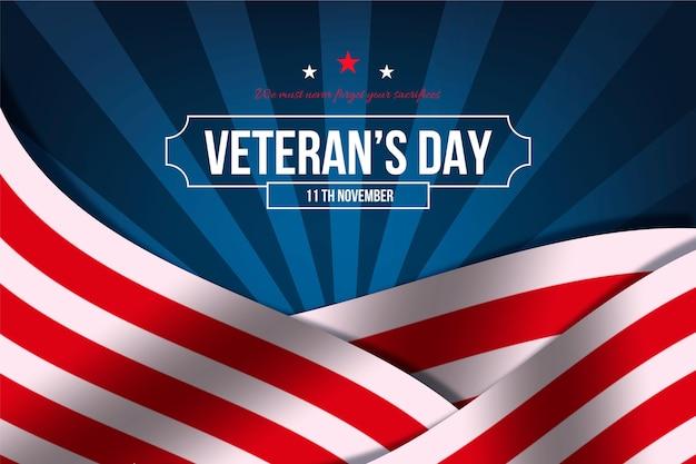 Concepto realista del día de los veteranos vector gratuito
