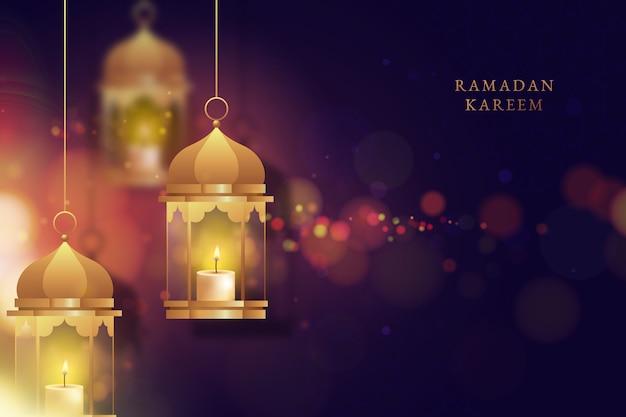 Concepto realista de ramadán vector gratuito