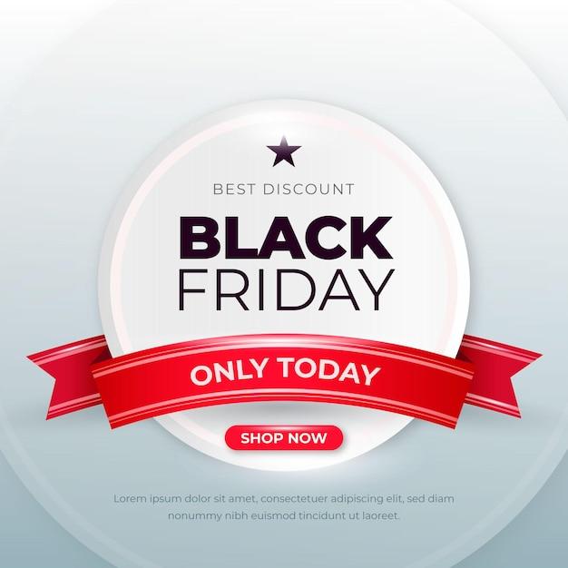 Concepto realista de viernes negro vector gratuito