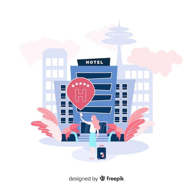 Concepto de reseña de hotel vector gratuito
